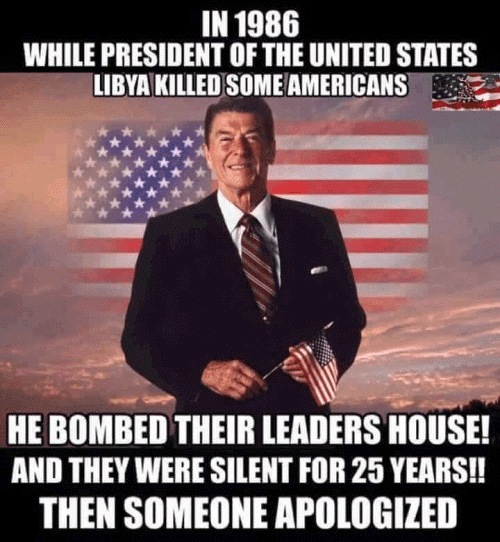 Leadership Reagan bombed Libya