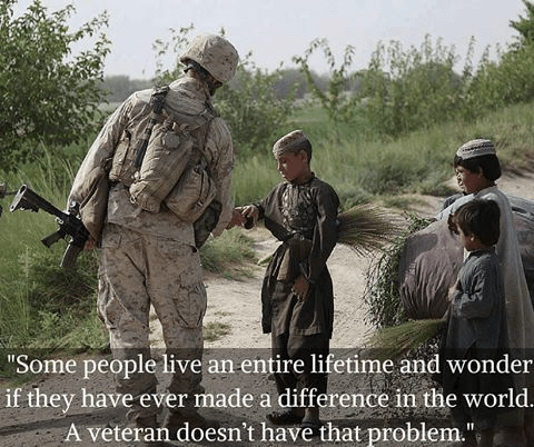 Military serving makes a difference