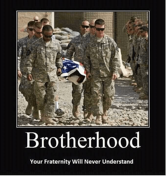 Military true brotherhood
