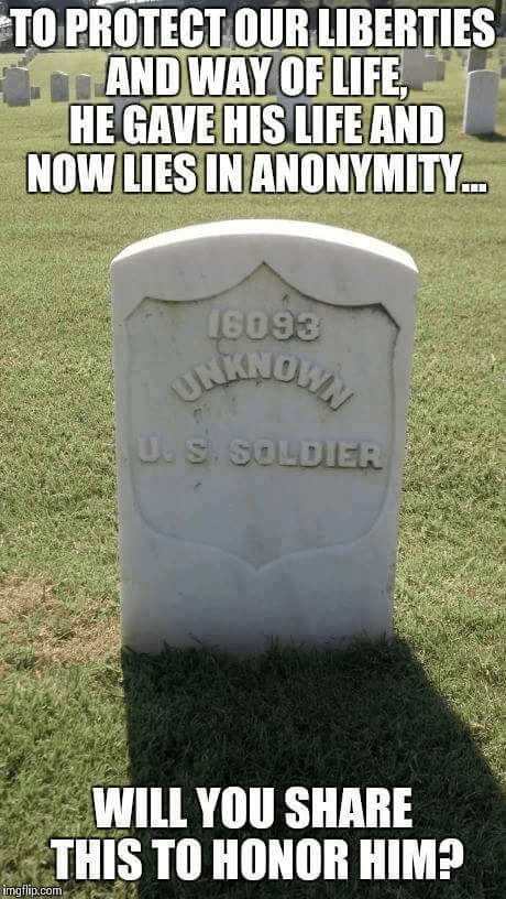Military unknown soldier