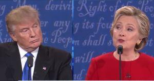 Presidential debate Trump and Clinton
