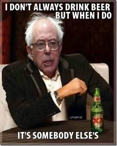 bernie-socialist-drinks-other-peoples-beer