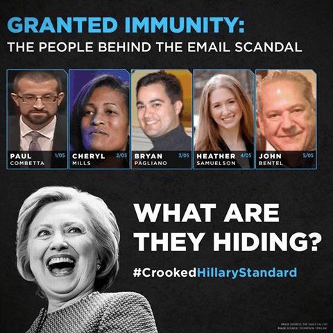 Hillary immunity hiding things