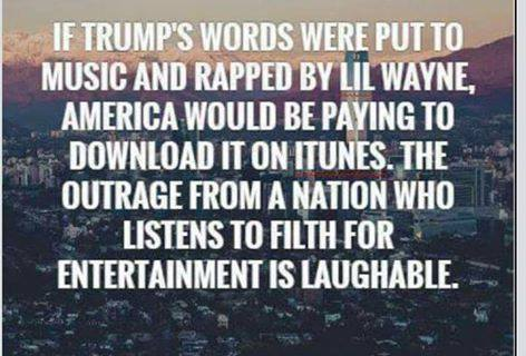 Trump hypocrisy about rap language