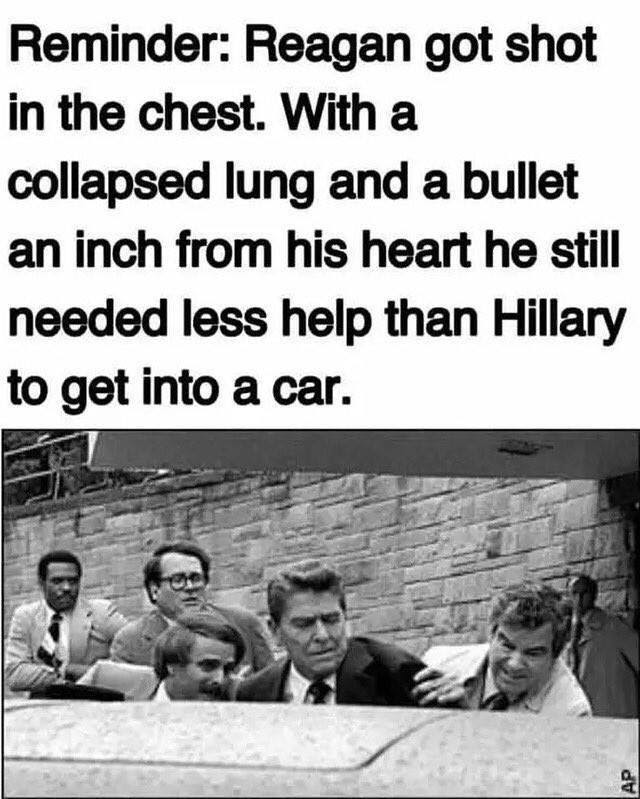 hillary-needed-more-help-to-car-than-shot-reagan