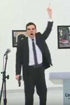 ISIS gesture Mevlüt Mert Altıntaş assassination Ambassador Karlov