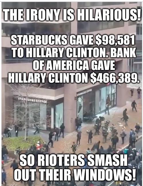 stupid-leftists-rioters-attack-hillary-supporting-businesses