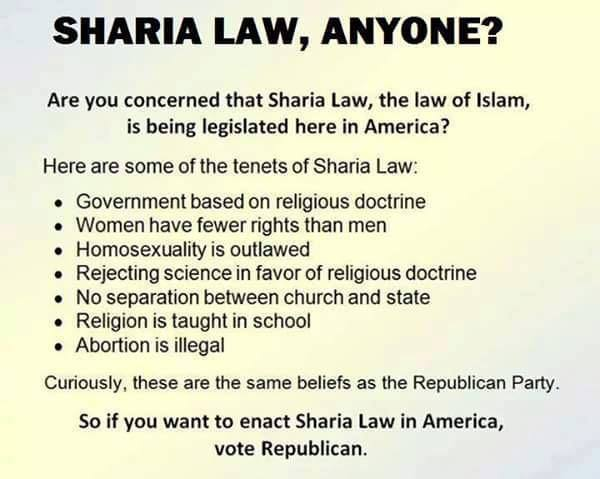 Sharia law Republicans