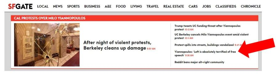 SF Gate Acknowledges Progressive Ideology is Violent