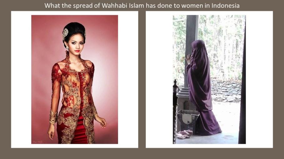 Indonesia costume Wahhabi Islam