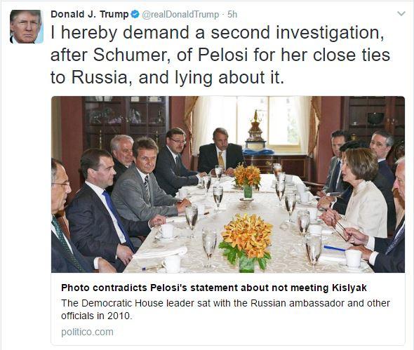 Deep State fail Trump shows Pelosi with Russian Ambassador
