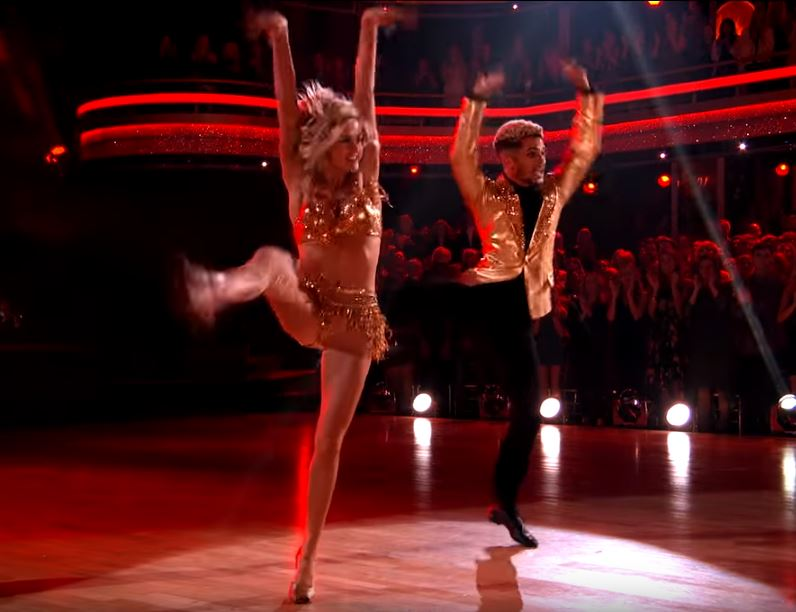 Jordan Fisher and Lindsay Arnold jive Dancing With The Stars DWTS
