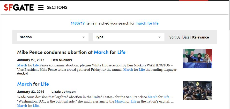 SFGate March for Life no coverage