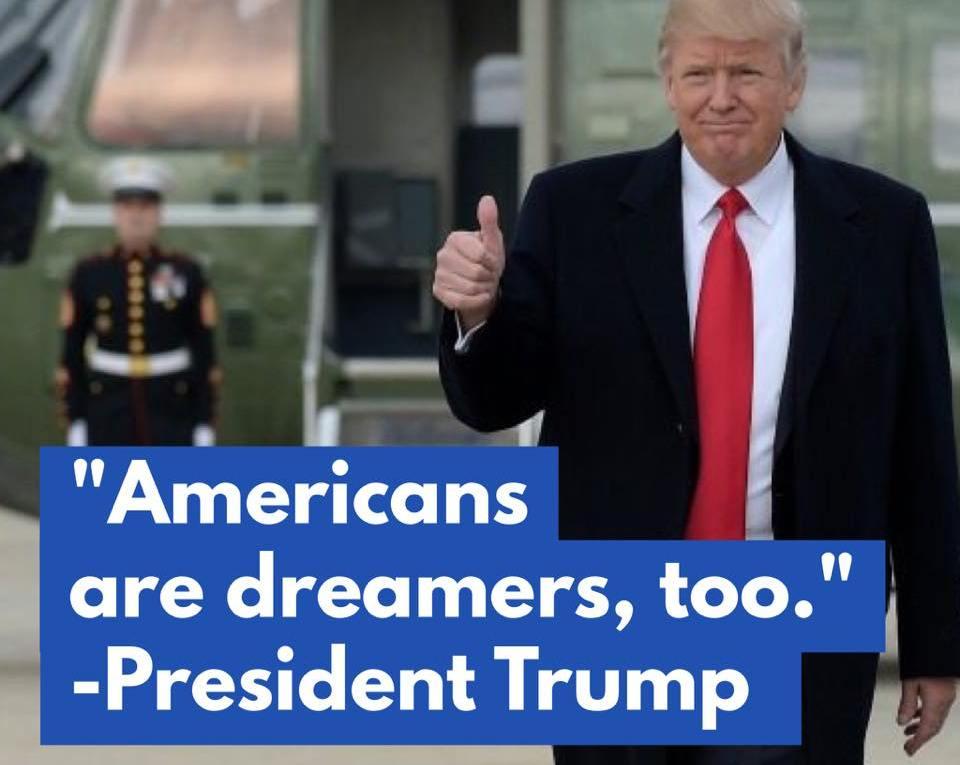 SOTU Americans are dreamers too Trump