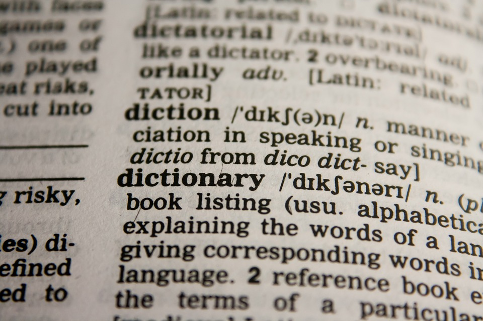 Dictionary word association