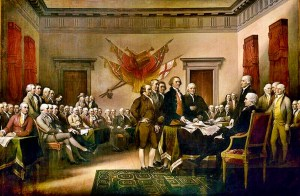Founding Fathers Gun Control Government Class Signing Declaration of Independence