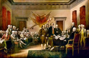 Government Class Signing Declaration of Independence