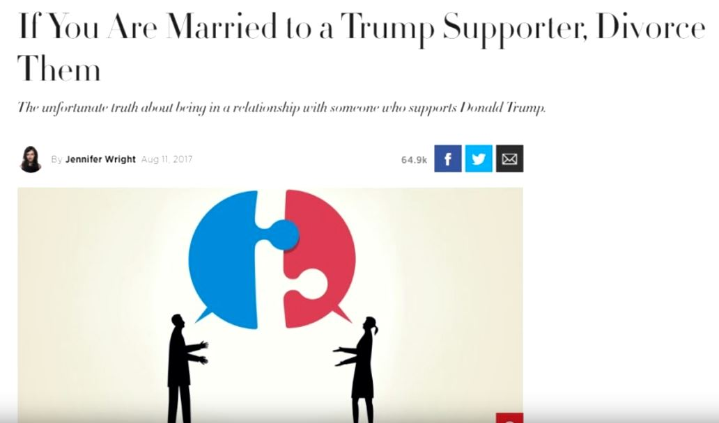 Divorce Trump Supporters