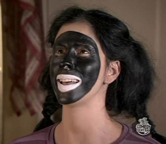 Comedian Sarah Silverman in blackface no Roseanne treatment