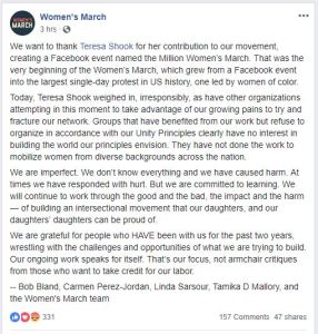 Women's March supports antisemitism