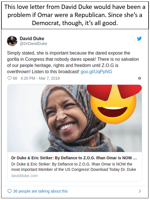 Anti-Semitism Ilhan Omar David Duke Democrats