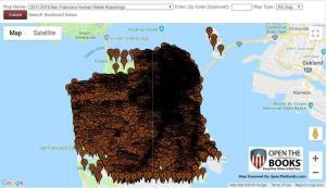 California San Francisco Democrats Poop Map