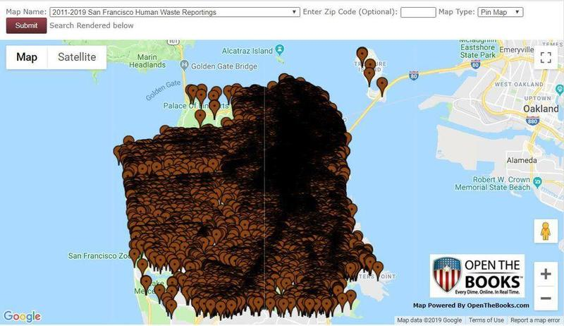 California San Francisco Democrats Poop Map