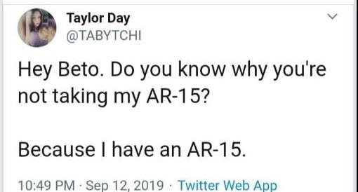 Democratic Debate AR-15