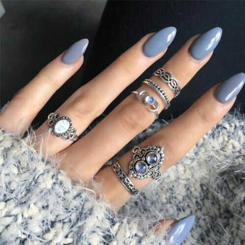 A Soft Grey Blue Is Sleek And Easy Transition Colour For Anyone Who Isn T Ready To Let Go Of Fall Trends Just Yet Brighter Colours Might Feel Bit Too