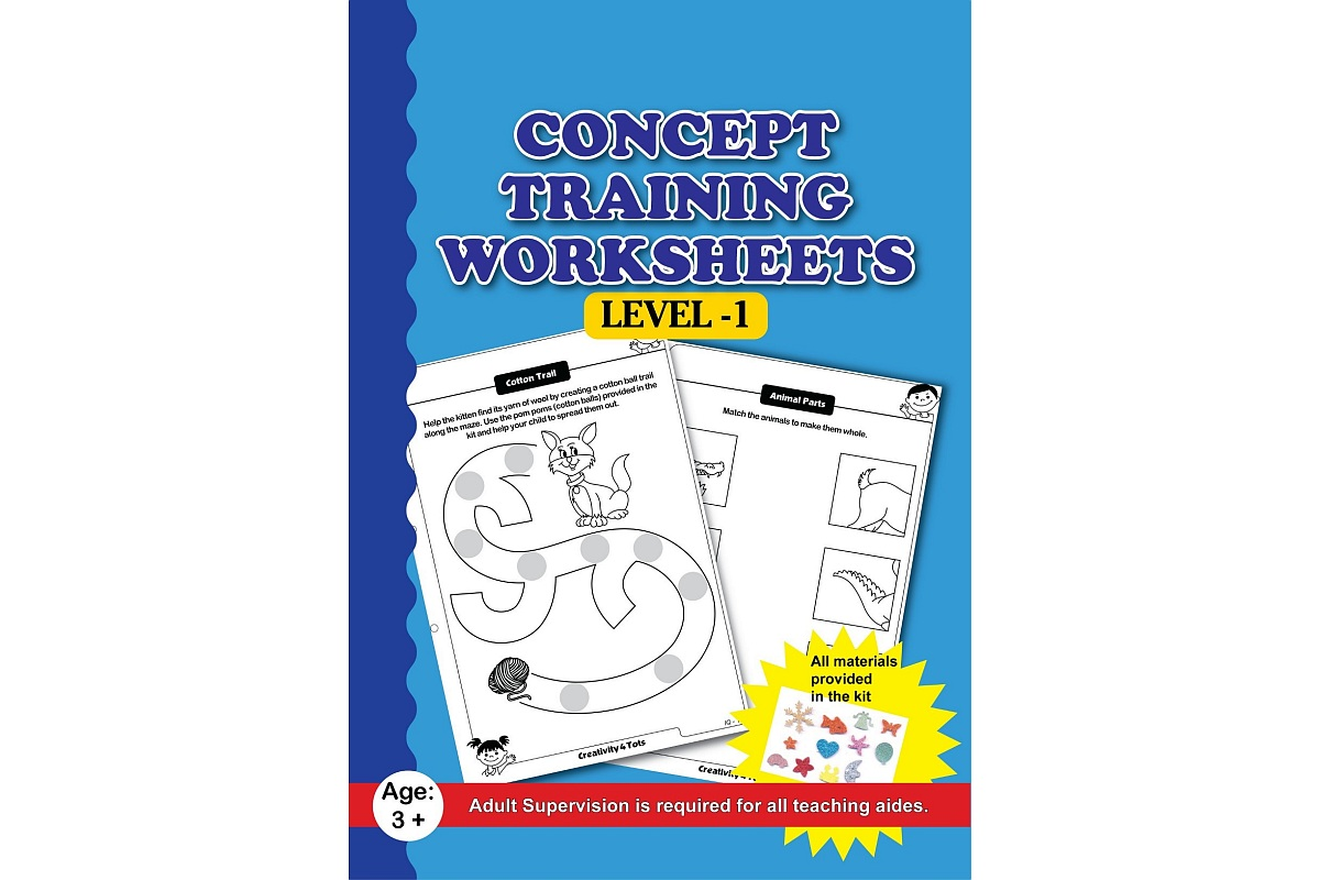 Concept Training Worksheets With Craft Material Lockdown