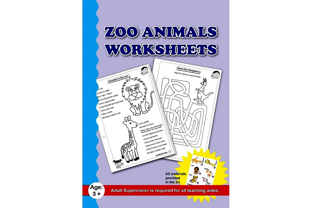 Zoo Animals Worksheet With Craft Material Lockdown