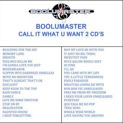 boolu call it what u want playlist
