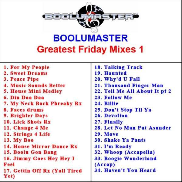 greatest friday mixes v1 playlist