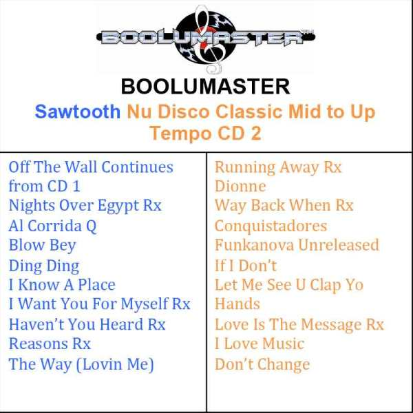 Sawtooth CD 2 playlist