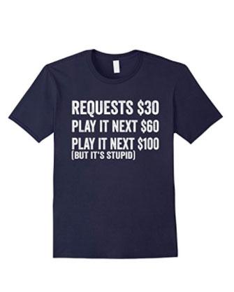Navy No Request T Shirt