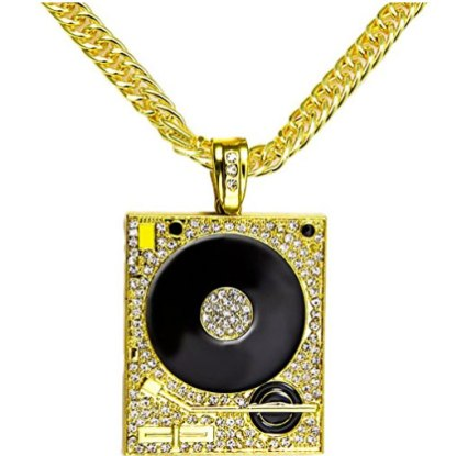 Gold turntable chain