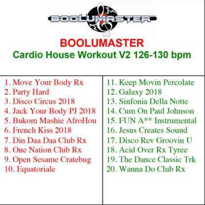 cardio house workout v2 playlist