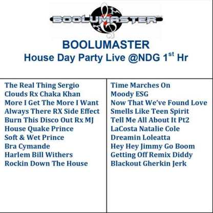 House Day Party 1st Hr
