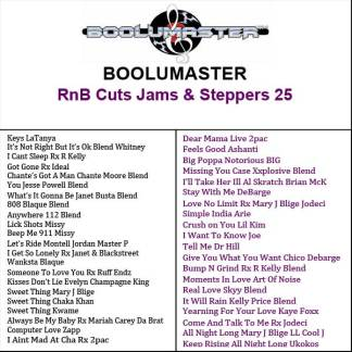 RnB Cuts 25 playlist
