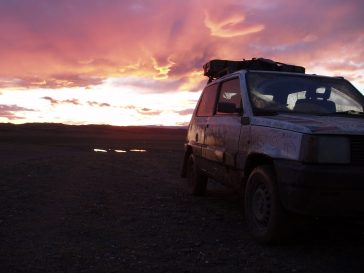 Sunset on the Banger Rally