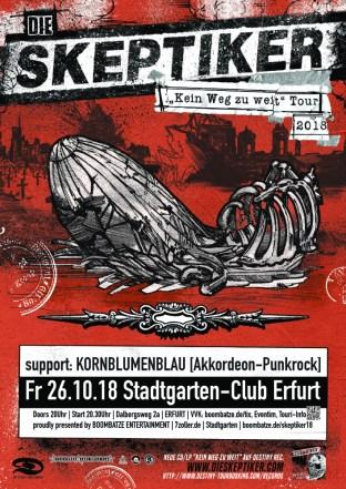 Die Skeptiker | 26.10.18 Stadtgarten Erfurt