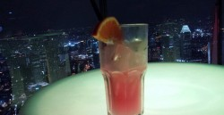 Singapore Sling at the Altitude Bar atop Raffles Place