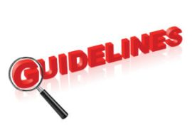 "red letters against white background with the word ""guidelines."""