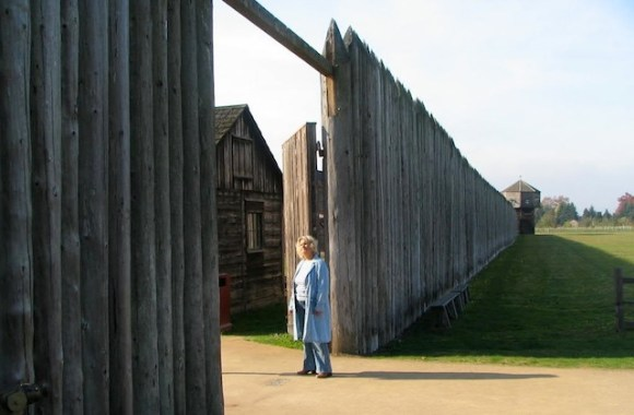 A Pioneer At The Gates Of Fort Vancouver