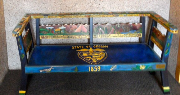Not a reading bench, but an Oregon bench.