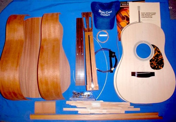 Just add glue, blood, sweat, and tears. via bluescreekguitars.com
