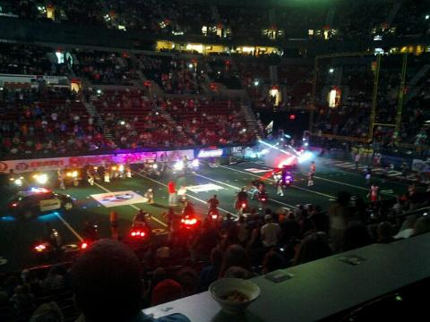 Portland Thunder pre-game with choppers