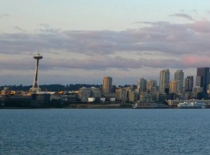 SPACE NEEDLE BECOMES LAMP POST IF SEATTLE GROWS THE WRONG DIRECTION