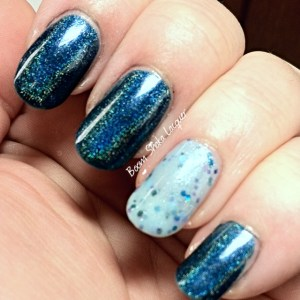 The Darkest Storm (with an accent of Alchemy Lacquers - Borage prototype)