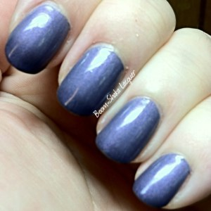 Gothic Gala Lacquers - Lilac Dreams (with topcoat)